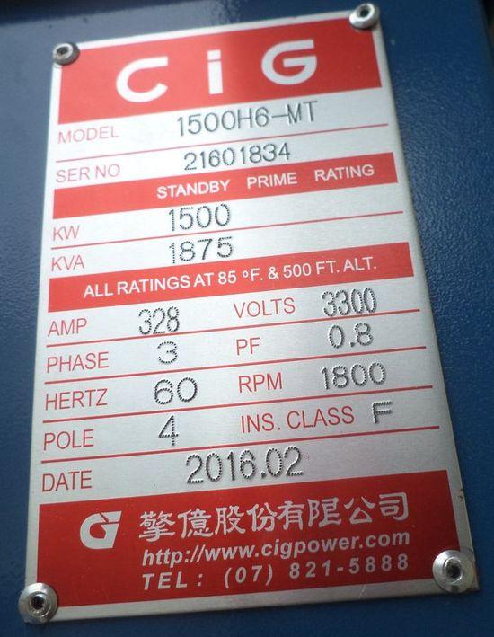 CiG, MTU generators