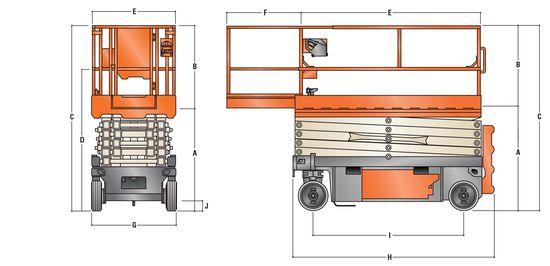 12米剪刀車; JLG 4045R;