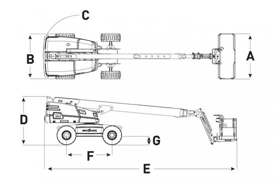 Skyjack 66T 引擎式 20米 直臂式高空作業車