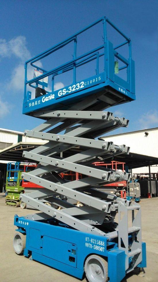 Genie GS-3232 10米剪刀式高空作業車,擎億高空高空作業車買賣、出租